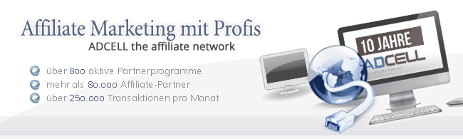 Affiliate Marketing mit ADCELL